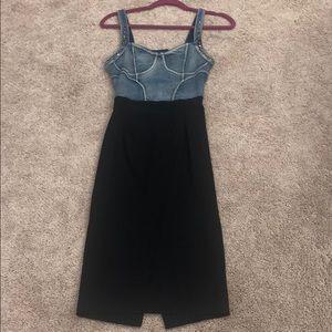 Demon top and midi pencil skirt bottom